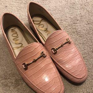 Baby Pink Croc Lorraine Loafers Sam Edelman 7.5